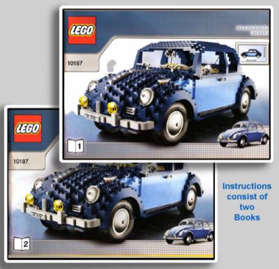 Инструкция для Лего 10187 Volkswagen Жук (VW Beetle)