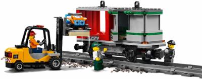 LEGO поезд 60198 - подвижной состав и погрузчик