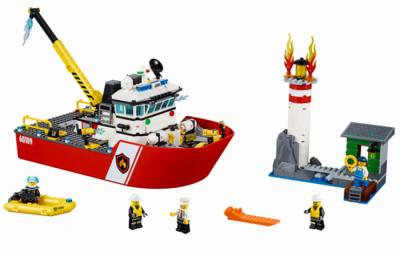 Пожарный катер (Lego 60109)