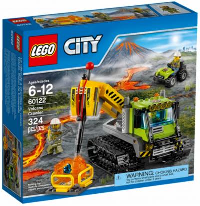 Купить конструктор LEGO City Volcano Explorers: 60122 Volcano Crawler в Москве. Доставка лего по России.