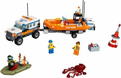 Лего 60165 Группа быстрого реагирования на внедорожнике (4 х 4 Unit Response)