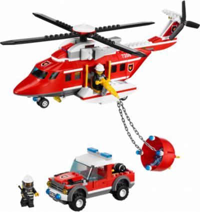 Лего 7206 Пожарный вертолет