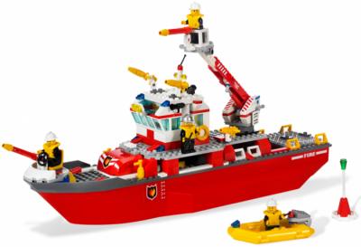 Лего 7207 Пожарный катер