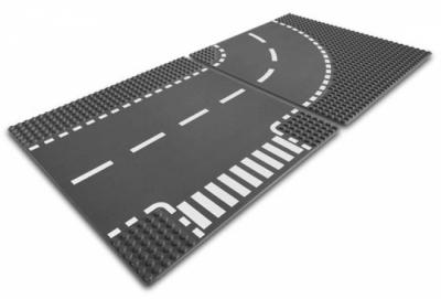 Lego 7281 Т-образный перекресток и поворот из серии City Exclusive