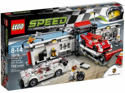 ЛЕГО 75876 Porsche 919 Hybrid and 917K Pit-Lane Speed Champions