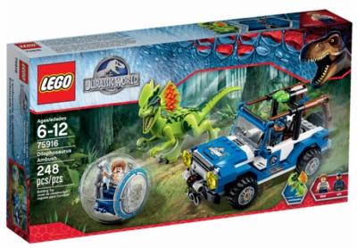 Купить конструктор LEGO Jurassic World: 75916 Dilophosaurus Ambush в Москве. Доставка лего по России.