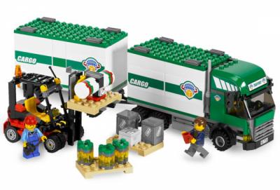 Лего 7733 Грузовой тягач и автопогрузчик