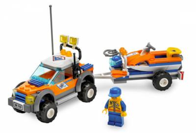 Лего 7737 Полноприводный джип береговой охраны