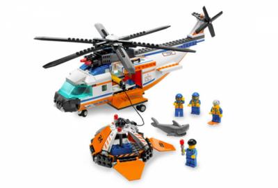 Лего 7738 Вертолет береговой охраны и спасательный плот