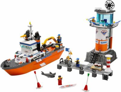 Лего 7739 Патрульный катер береговой охраны и сигнальная башня