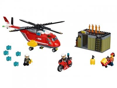 Пожарный вертолет (Lego 60108)