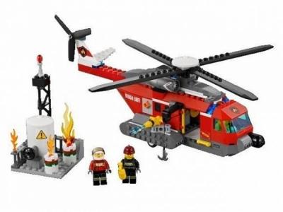 Лего 60010 пожарный вертолет