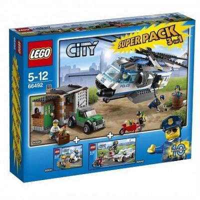 Суперпэк Лего Сити Полиция 3 в 1 (Lego 66492)