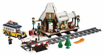 Лего Креатор 10259 Зимняя Железнодорожная Станция