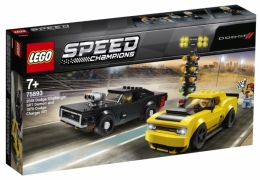 ЛЕГО Speed Champions 75893 Автомобили 2018 Dodge Challenger SRT Demon и 1970 Dodge Charger R/T